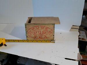 Vintage Ceylon Wooden Tea Box