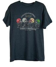 2015 College Football PLAYOFF T Shirt Sz M THIS IS HISTORY New Orleans Pasadena