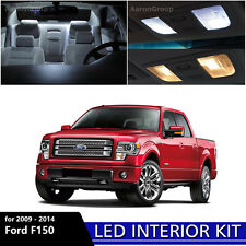 9PCS White Interior LED Light Package Kit For 2009 - 2014 Ford F150 F-150