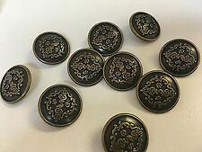 Antique Brass Classical Shank Buttons 20 mm x 3 Buttons