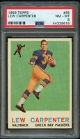 1959 Topps FB Card # 95 Lew Carpenter Green Bay Packers ROOKIE PSA NM-MT 8 !!!