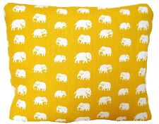 Yellow Elephant Fabric Cushion Cover Decorative Throw Pillow Case