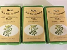 Rue Scented Soap by Murray & Lanman 3.3 Oz Rue Ruda jabon Oil Three 3 Soaps 3