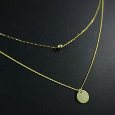 GENUINE 925 Sterling Silver Ball Disc Layered Stacking CHOKER Necklace UK