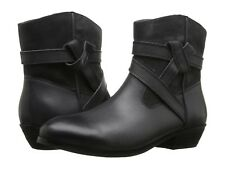 NEW SOFTWALK  Roper Ankle Boots in Black Leather, Size Women 5.5 M, $159