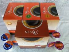 Combo of 4 flavors NESSO coffee capsules (72 Keurig k-cups Medium roast)