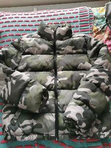 New Look Girls Padded Puffa Camouflage Jacket Age 14-15