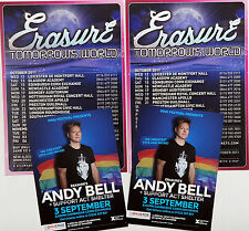 ANDY BELL DHIVERSE 2016 CONCERT FLYERS & ERASURE TOMORROW'S WORLD FLYERS