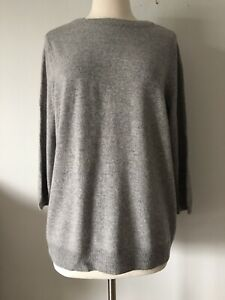 TALBOTS PURE CASHMERE GRAY 3/4 SLEEVE WOMAN PETITES SWEATER SIZE 2X P