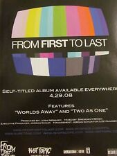 From First to Last, Full Page Promotional Ad