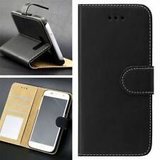 Luxury Soft Black Leather Flip Case Wallet Cover For SAMSUNG GALAXY J3 2016