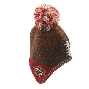 San Francisco 49ers Official NFL Infant 12-24 Months Pom Knit Winter Hat Cap New