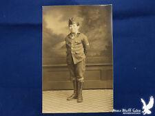 Downie Portage WI Photo Young Boy Uniform Campaign Jacket Garrison Cap Insignia