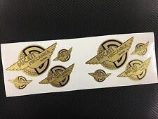 8 Adesivi Stickers DUCATI Meccanica Vintage Gold & Black