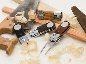 F / X Wooden Golf Divot Tool with Magnetic Golf Ball Marker. Various Designs.