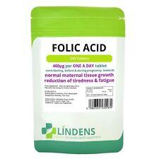 Lindens Folic Acid Pregnancy Vitamins Health Supplement 400mcg 240-Tablets