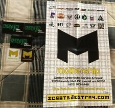 Mothership Scooters Poster & Stickers Scoot&Destroy.com District Odi Lucky Proto