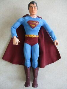 CUSTOMIZED HASBRO MAN OF STEEL FIGURE W/ 1966 CAPTAIN ACTION SUPERMAN-HEAD-MASK