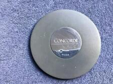 British Airways Concorde Hallmarked Silver Inlaid Leather Coaster 2