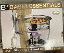 Choice Deluxe 4 Qt. Round Chafer Stainless Steel Chafing Dish Set