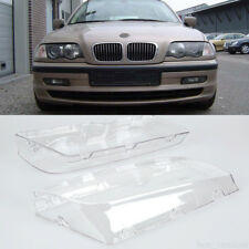 Left & Right Car Headlight Head Lamp Clear Lens For BMW E46 3 Series 1998-2001