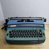 Vtg Smith Corona Coronamatic Coronet Super12 6E Electric Typewriter Blue NO CASE