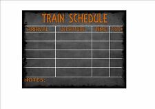 Railway Station Sign Reproduction British Rail Schedule  Sign Vintage Rail Sign
