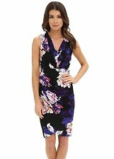 NWT $139 - ADRIANNA PAPELL Women's Floral Printed V-Neck Dress, Multi, Size XL