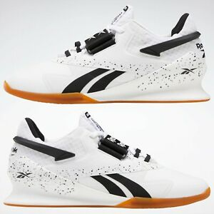Reebok Legacy Lifter II Mens Weightlifting Shoes Trainers Gym White SIZES FU9458