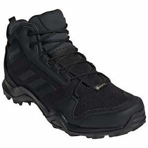 Adidas Mens Terrex AX3 Mid Gore-Tex Waterproof Walking Boot - Black