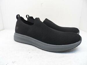 Skechers Men's Slip On Air Cooled Memory Foam Insole Casual Shoe Black/Gray 12M