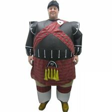 Adult Inflatable Scottish Piper Fancy Dress Outfit Tartan Costume Outfit Suit