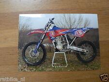 F091-MX500 YAMAHA YZ 500FM GRAND PRIX MACHINE SEASON 2001 PHOTO MOTOCROSS