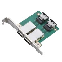 2-port SFF-8087 to SFF-8088 PCI Mini SAS 32P-26P Mount Adapter Server Raid Card