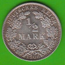 Kaiserreich 1/2 Mark 1906 E hübsch nswleipzig