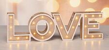 LED DEKO Dekoschrift Dekoschild Love mit 24 Warmweissen LEDs 54843