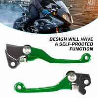 Green Pivot Brake Clutch Levers for Kawasaki KX250F 2005-2012 KX450F 2006-2012