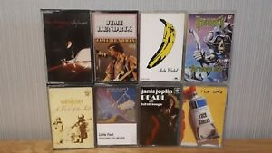 Job Lot Cassette Tapes (x8) - 70s / 80s Rock - Genesis, Joplin, Hendrix, The Who