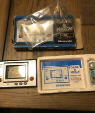 LCD FIRE Game Watch Boxed RC-04 Tested Nintendo JAPAN game 1980