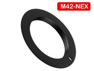 M42 Lens to Sony NEX E Mount Camera Body Adapter NO FLANGE NEX E Mount UK STOCK