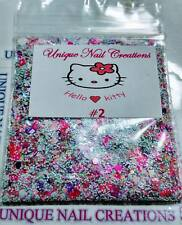 Limited Edition Glitter Mix~HELLO KITTY #2* Comes With Alloy~ Nail Art