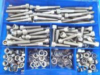 325 Teile Edelstahl V2A Innensechskantschrauben DIN 912 Muttern Box M6 Nirosta