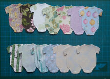 14 baby rompers suit clothes paper die cuts card topper girl congrats #21