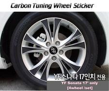 "Carbon Tuning Wheel Mask Sticker For Hyundai YF Sonata; i45  17"" [2010~2012]"