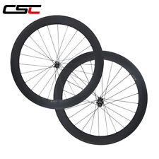 Straight pull carbon 60mm clincher cyclocross wheels Novatec disc thru axle hub