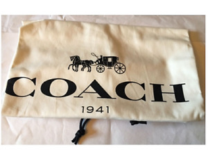 🌺🌹1 NEW COACH 1941 Cotton  Dust Cover Bag Drawstring 13'Wx11'' H