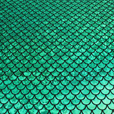 """Sparkly Scale Mermaid Fabric Hologram Spandex 2 Way Stretchy 60"""" Wide by Yard"""