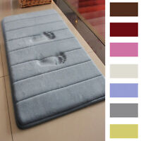 MEMORY FOAM Bath Mat Doormat Entrance Rug Anti-Slip Indoor Outdoor Floor Carpet