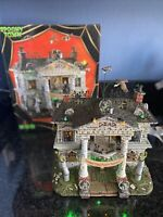 """RARE Lemax """"Dead Fraternity"""" Animated Halloween Spooky Town Sights & Sounds NIB"""