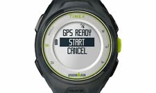 PRE-OWNED $187 Timex Run x20 GPS Ironman Watch Black/Lime Green TW5K87300